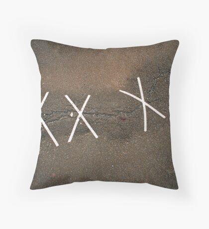 Asphalt bandage Throw Pillow