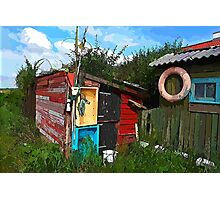 Rustic wooden old fishing shed Photographic Print