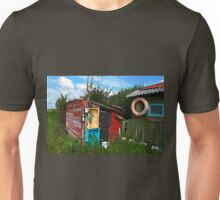 Rustic wooden old fishing shed Unisex T-Shirt