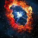 fire nebula by damiankafe