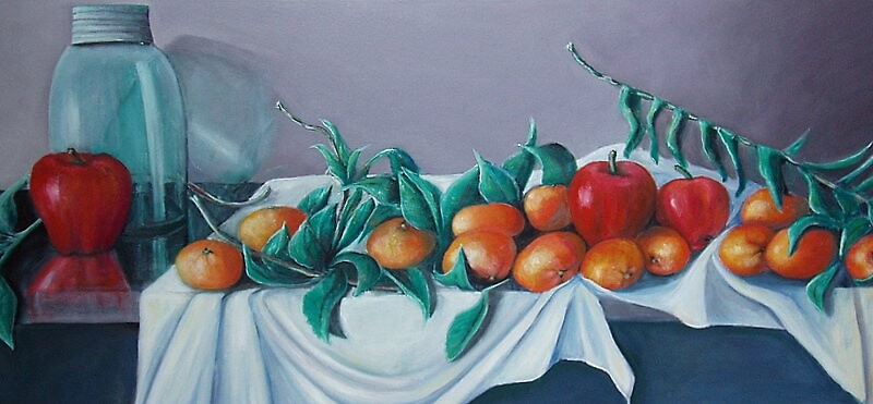 Tangerines and Apples by Eileen Kasprick