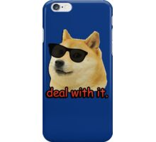 Doge -  deal with it sunglasses meme iPhone Case/Skin
