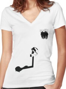 Fallen Soldier Women's Fitted V-Neck T-Shirt