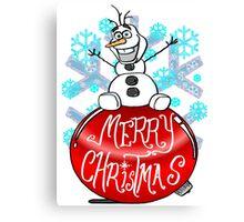 Merry Olaf Christmas Canvas Print
