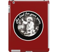 DJ Jesus died for your spins iPad Case/Skin