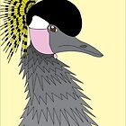 African Crowned Crane by trilac