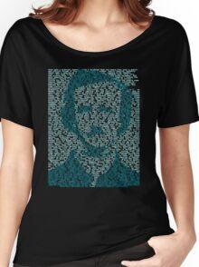 Edgar Allen Poe - The Raven Poem Retro T Shirt Women's Relaxed Fit T-Shirt