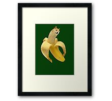 Doge meme wow banana Framed Print
