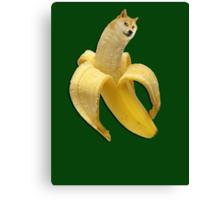 Doge meme wow banana Canvas Print