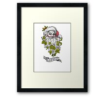 Craft Beer Santa - Cheers! Framed Print