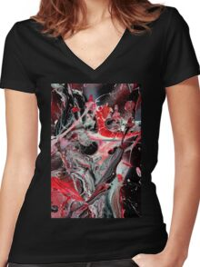 Inner Outer Space 3 Women's Fitted V-Neck T-Shirt