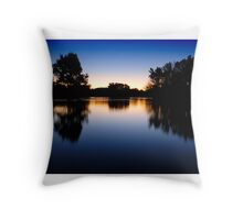 Lake Burley Griffin Sunset Throw Pillow