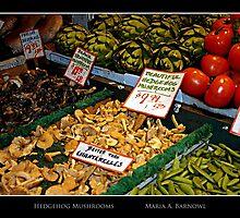 Hedgehog Mushrooms - Cool Stuff by Maria A. Barnowl