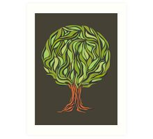Illusion  tree Art Print