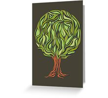 Illusion  tree Greeting Card
