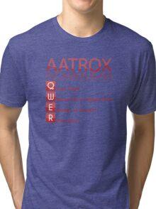 Champion Aatrox Skill Set In Red Tri-blend T-Shirt