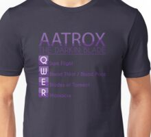 Champion Aatrox Skill Set In Purple Unisex T-Shirt