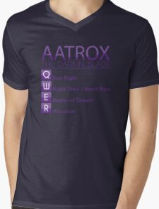 Champion Aatrox Skill Set In Purple Mens V-Neck T-Shirt