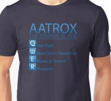 Champion Aatrox Skill Set In Blue Unisex T-Shirt