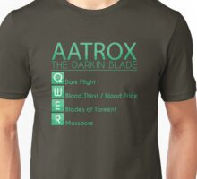 Champion Aatrox Skill Set In Green Unisex T-Shirt