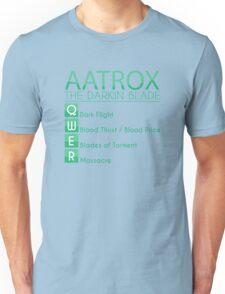 Champion Aatrox Skill Set In Green Unisex T-Shirt