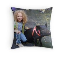 This Little Piggy is NOT Going to Market! Throw Pillow