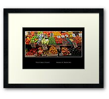 Vegetable Stand - Cool Stuff Framed Print