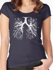 Tree Of Life (white) Women's Fitted Scoop T-Shirt