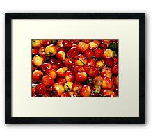 Washington Cherries Framed Print