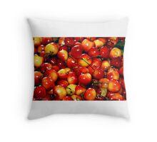 Washington Cherries Throw Pillow