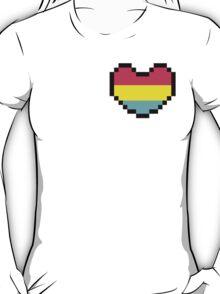 Pan Pride Heart Pixel T-Shirt