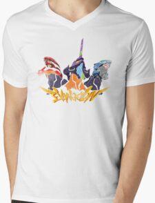 NGE: Aftershock! -light ver.- Mens V-Neck T-Shirt