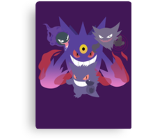 POKEMON Gastly - Haunter - Gengar Canvas Print