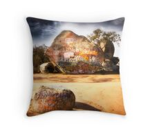 The Rock Is My Canvas Throw Pillow