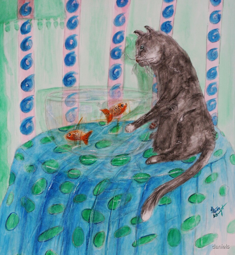 cat and the fishbowl_2 by daniels