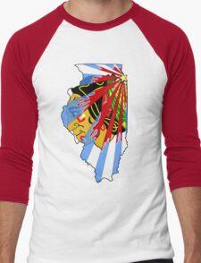 Illinois Blackhawks Men's Baseball ¾ T-Shirt