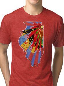 Illinois Blackhawks Tri-blend T-Shirt