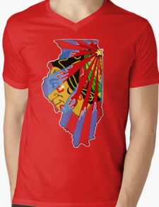 Illinois Blackhawks Mens V-Neck T-Shirt