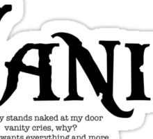 Vanity Sticker
