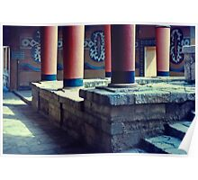 Inside the Palace, Knossos, Crete, Greece 1960 Poster