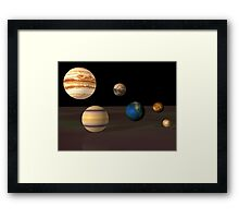 Spheres of the ancients in 3d Framed Print