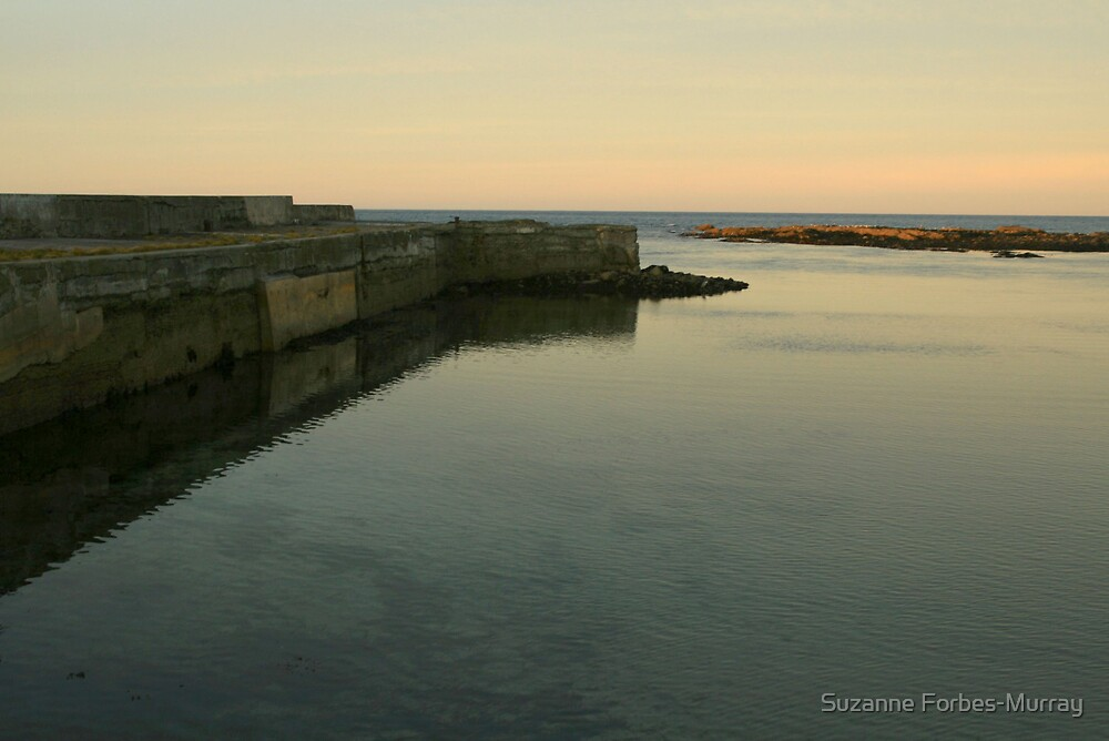Harbour Wall Rosehearty by Suzanne Forbes-Murray