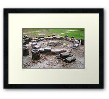Fire Pit Framed Print