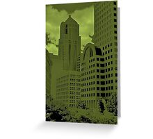 Green Seattle Greeting Card