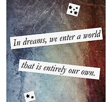 In Dreams - Harry Potter Dumbledore Quote by scarletprophesy