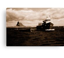 Coming home ( Holy island Northumberland ) Canvas Print