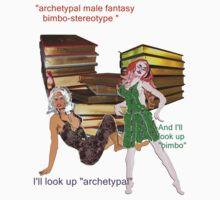archetypal male fantasy bimbo-stereotype  by Dominic Melfi