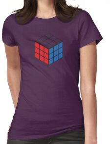 Rubiks Cube Womens Fitted T-Shirt