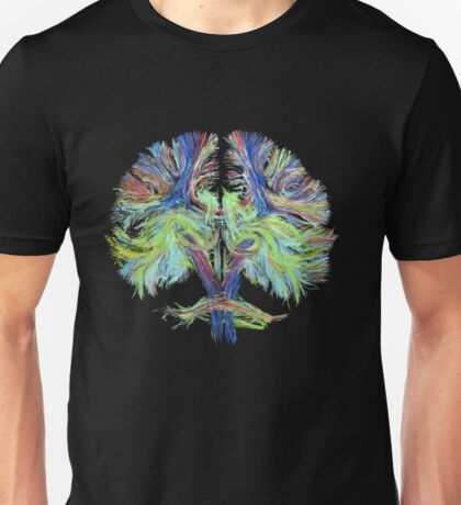 Tractography on black Unisex T-Shirt