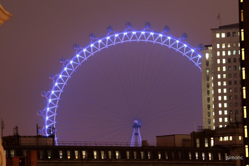 London Eye at night by simonc